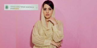 Urfi Javed Trolled Over Wearing Backless Dress Covering Her Head Like A Hijab, Check Out - Deets Inside