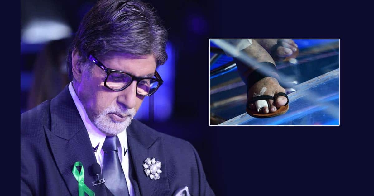 Big B shows fractured toes on sets of 'KBC 13'