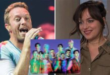 Chris Martin Gives A Sweet Shout-Out To His Love Dakota Johnson While Performing On His Song Featuring BTS