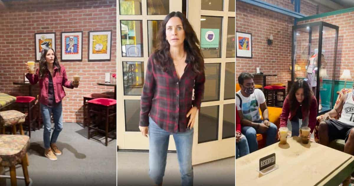 Courteney Cox Shares Video Of Serving Coffee At Central Perk After Returning To The Warner Bros Lot