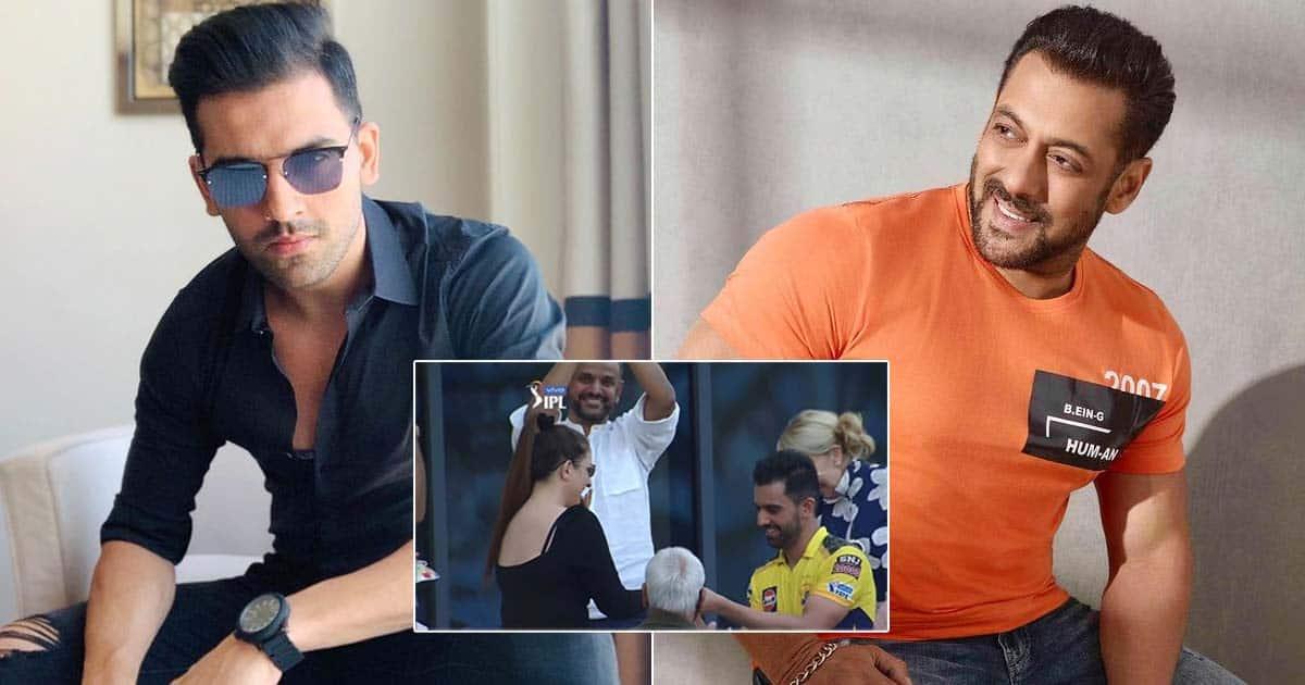 Deepak Chahar Of CSK Proposes Her GF After IPL Match, Fan Compares Him With Salman Khan