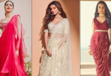 Dussehra 2021: From Tara Sutaria's Glitzy Glamorous Lehenga To Shraddha Kapoor's Indo-Western Sultry Saree, These Outfits Will Inspire You To Get Up & Dress, Take A Look