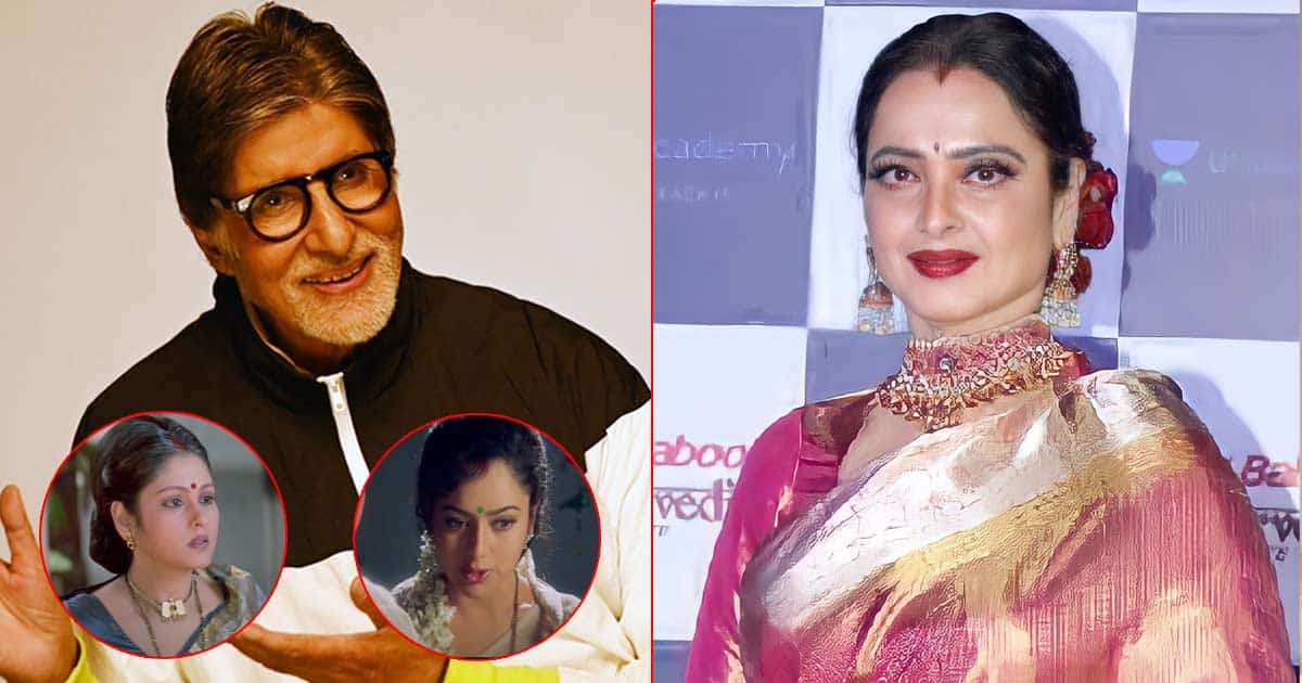Happy Birthday Rekha: She Dubbed For Both Actresses Who Played Amitabh Bachchan's Wives In Sooryavansham