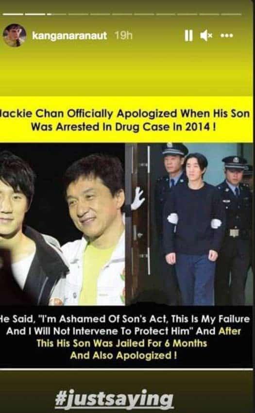 Kangana Ranaut Takes A Dig At Shah Rukh Khan & Compares Him With Jackie Chan Amid Aryan Khan's Drugs Case