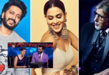 Kaun Banega Crorepati 13: Riteish Deshmukh Praises Genelia D'Souza's Memory But Amitabh Bachchan's Comment On It Leaves All In Splits – Watch