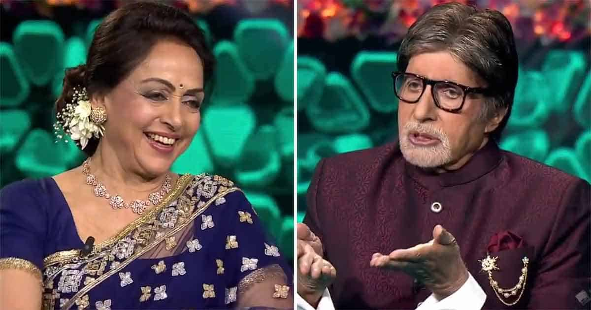 KBC 13: Amitabh Bachchan Asked Hema Malini A Surprising Question On Who's Answer Every Man Wants To Know! Check It Out