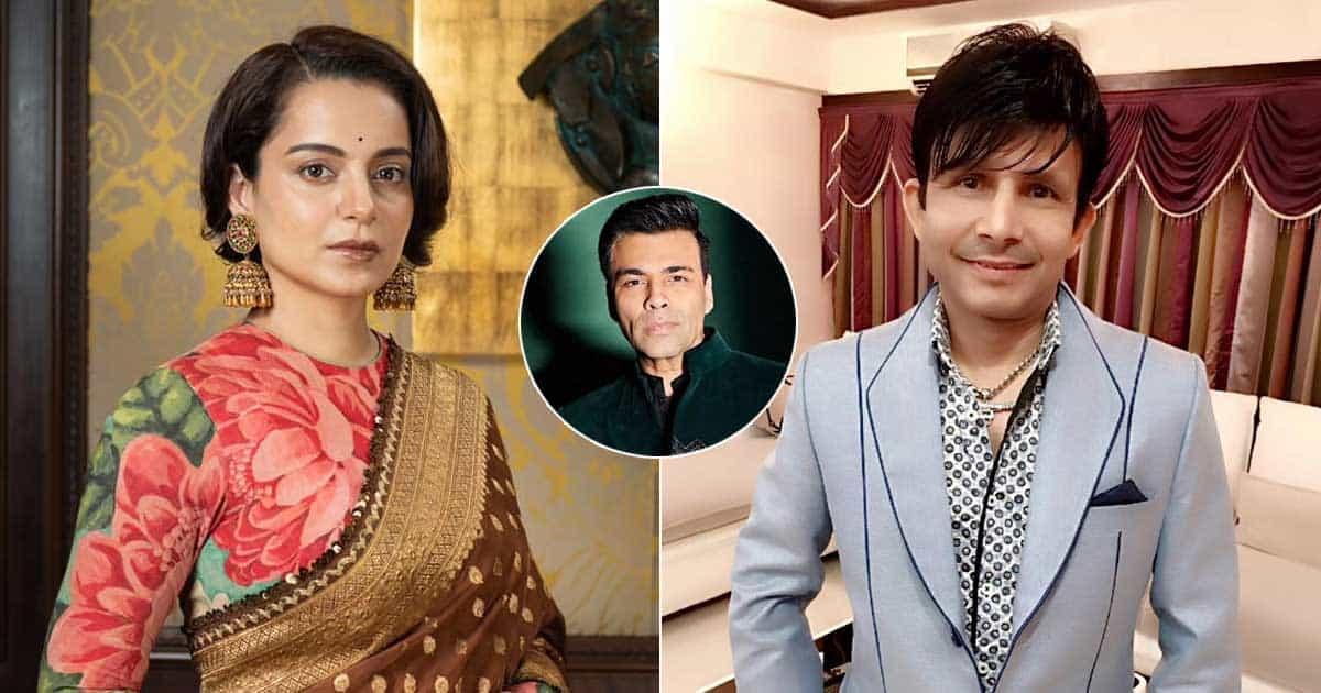 KRK Reveals Kangana Ranaut Asking Her To Say 'Bad Things' About Karan Johar