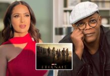 """Salma Hayek Shares That Samuel L. Jackson Knew About Her Eternals Secret & Said """"I Have Been Watching You"""""""