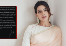 Samantha Pens An Emotional Open Letter Post The Divorce, Read On